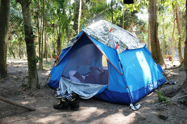 Sleeping in a tent must be exciting even before the nightfall